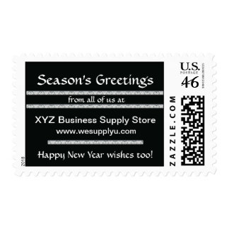 Black + White Business Promotional Postage Stamp