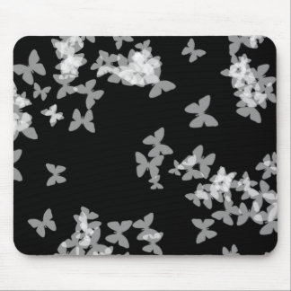 """Black & White Butterflies"" Mouse Pad"