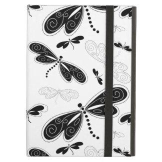 Black & White Butterflies Pattern iPad Air Cases