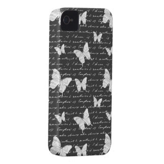 Black & White Butterfly Dreams iPhone 4 Cover