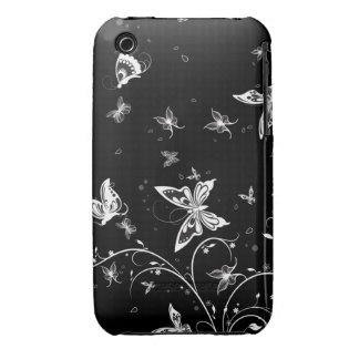 Black & White Butterfly iPhone 3 Cases