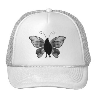 Black & White Butterfly Raven Hat
