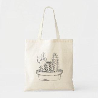 Black & White Cactus Tote Bag