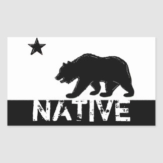 Black white California native state bear stickers