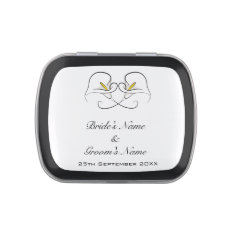 Black & White Calla Lily Flowers Wedding Favor Jelly Belly Candy Tin at Zazzle