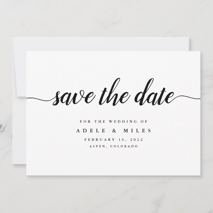 Monochrome Floral Folded Save the Date Save the Date Save the Date Cards