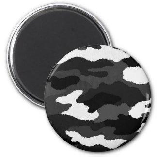 Black & White Camo Fridge Magnets