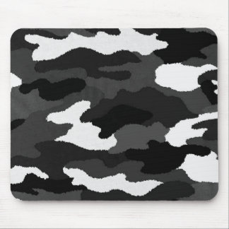Black & White Camo Mouse Pads