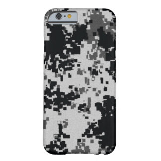 Black & White Camouflage Barely There iPhone 6 Case