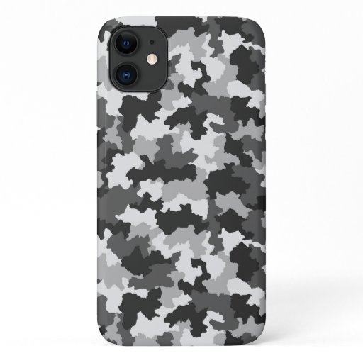 Black & White Camouflage iPhone 11 Case