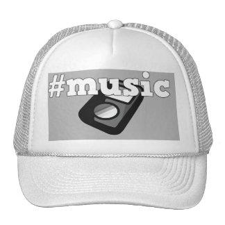 Black & White Cap Hashtag Music with Ipod Design Trucker Hat