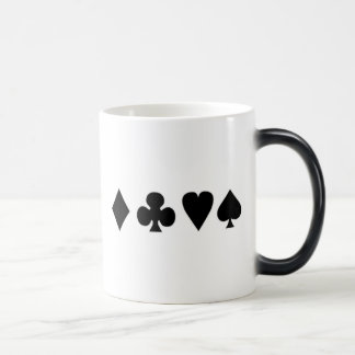 Black & White  Card Suits 1 11 Oz Magic Heat Color-Changing Coffee Mug