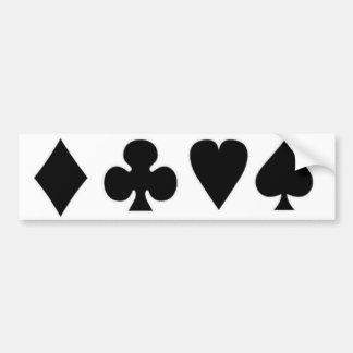 Black & White  Card Suits 1 Bumper Sticker
