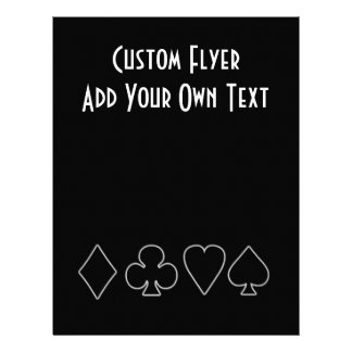 Black & White  Card Suits 1 Personalized Flyer