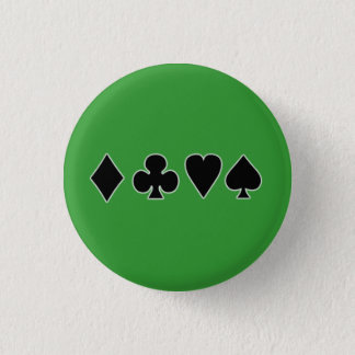 Black & White Card Suits Button