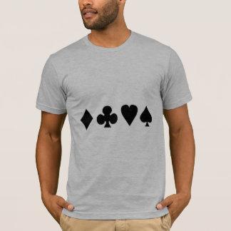 Black & White Card Suits T-Shirt