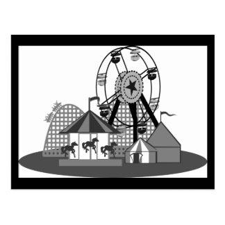 Black & White Carnival Theme Party Postcard