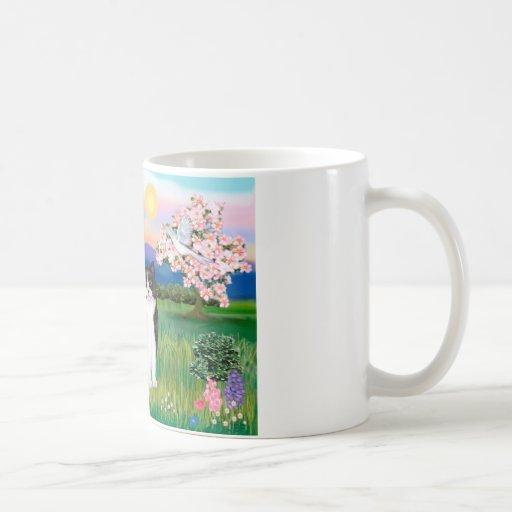 Black & White Cat - Blossoms Coffee Mug
