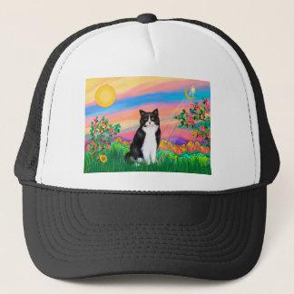 Black & White Cat - Day Star Trucker Hat