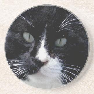 Black & White Cat Face Coaster