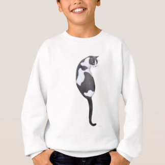 Black & White Cat Kids Sweatshirt