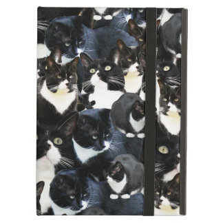 Black White Cat Madness Cover For iPad Air
