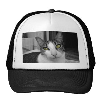 Black White Cat Photo Trucker Hat