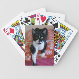 Black & White Cat Playing Cards