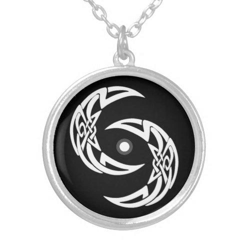 Black & White Celtic Moons