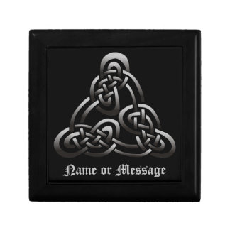 Black White Celtic Trinity Knot Gift Box