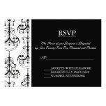 Black & White Chandelier Elegant RSVP cards