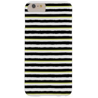 Black White Chartreuse Striped iPhone 6 PLUS Case