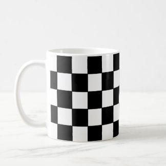 Black white checked - Mug