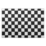 Black white checked - Placemat
