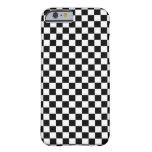 Black White Checker Board Barely There iPhone 6 Case