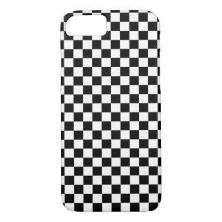 Black White Checker Board iPhone 7 Case