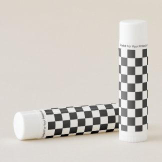 Black White Checker Lip Balm