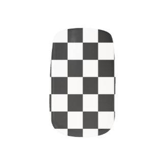 Black White Checker Minx Nail Art