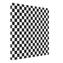 Black White Checkerboard Abstract Pattern Canvas Print