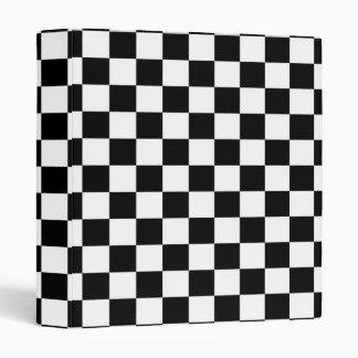 Black & White Checkerboard Background Vinyl Binder