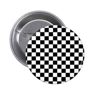 Black & White Checkerboard Background Pinback Buttons