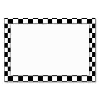 Black & White Checkerboard Background Card