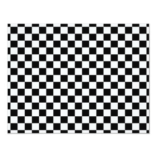 Black & White Checkerboard Background Card