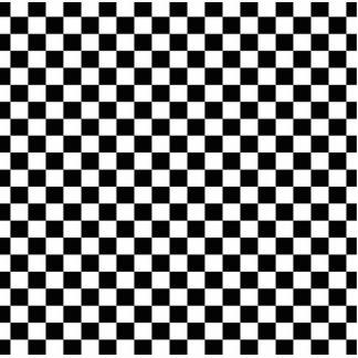 Black & White Checkerboard Background Cutout