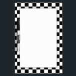 """Black &amp; White Checkerboard Background Dry-Erase Board<br><div class=""""desc"""">* This Dry Erase Board is available in several sizes and shapes. Includes black dry erase pen and your choice of backing types. Find the best fit for your needs! * back to school supplies high school * back to school supplies * back to school shopping * High school shopping...</div>"""