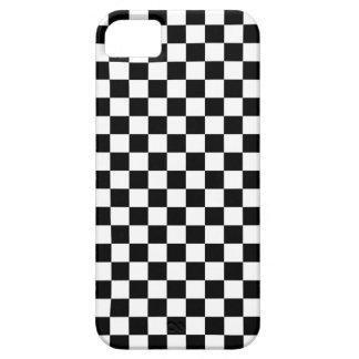 Black & White Checkerboard Background iPhone SE/5/5s Case