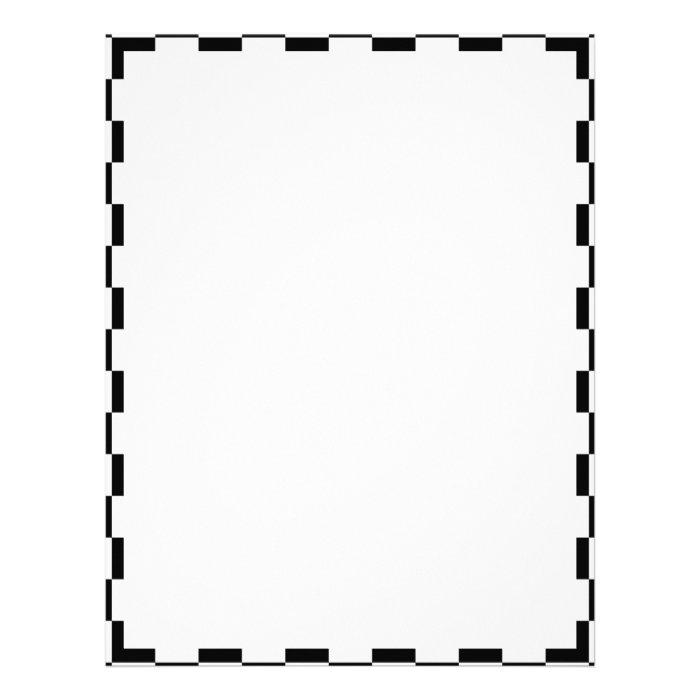 Black & White Checkerboard Background Letterhead