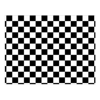 Black & White Checkerboard Background Post Cards