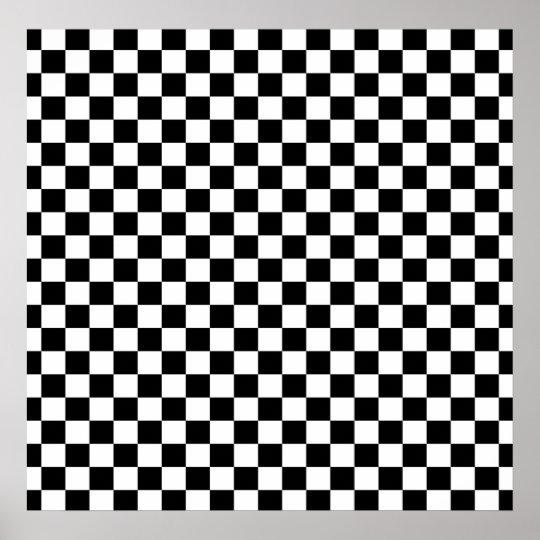 White Checkerboard Background Poster