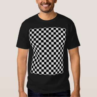 Black & White Checkerboard Background T-Shirt